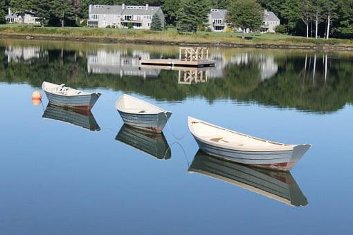 Dories, Boats, Nature, Rowing, Maritime, Beach, Boating