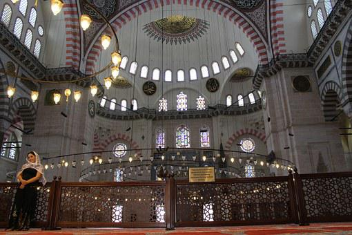 Cami, Chandelier, Süleymaniye, Closed, A Holy Place