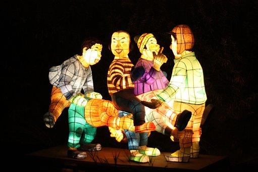 Children, Lantern Festival, Cheonggyecheon Stream