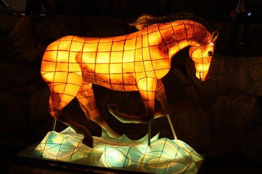 Horse, Lantern Festival, Cheonggyecheon Stream