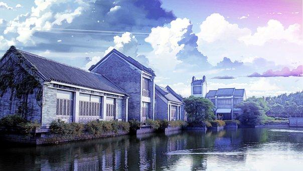 Housing, Fantasy, Beautiful, China Wind, Makoto Shinkai
