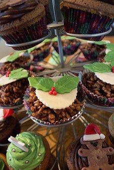 Cake, Christmas, Chocolate, Rice Crispies, Pudding
