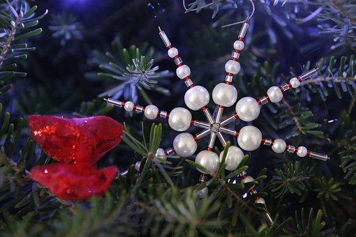 Christmas, Xmas, Holidays, Season, Beaded Ornament