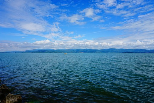 Lake, Lake Trasimeno, Water, Blue, Nature, Colors