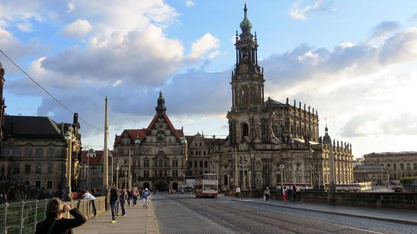 Dresden, Cathedral, Old Town, Building, Church