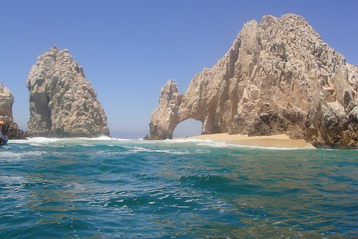 El Arco, Cabo, Mexico, Rock Formation, Beach, Ocean