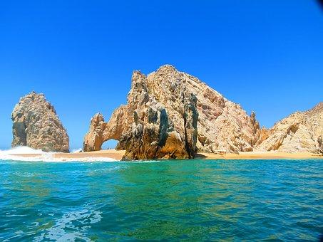 El Arco, Cabo, Mexico, Beach, Ocean, Sky, Water, Coast