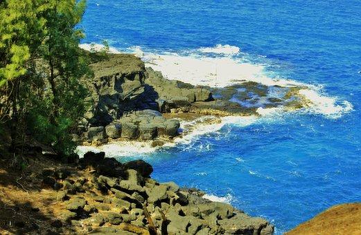 Hanalei, Kauai, Hawaii, Ocean, Sea, Seascape, Sky