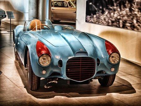 Lancia Spyder, 1953, Car, Automobile, Hdr, Vehicle
