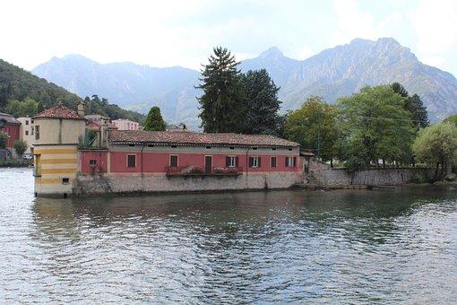 Island Visconti, Island, Lake Como, Lake Lecco, Lecco