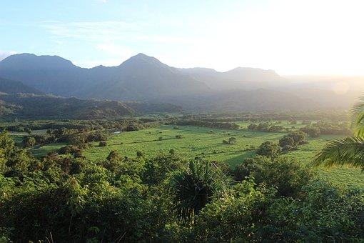 Hanalei, Kauai, Hawaii, Mountains, Landscape