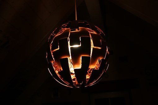 Lamp, Ikea, Light, Modern, Design, Room, New, Copper