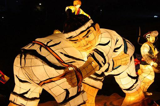Wrestling, Lantern Festival, Cheonggyecheon Stream