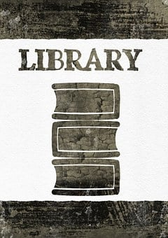 Library, Sign, Plate, Book, Education, Library Books
