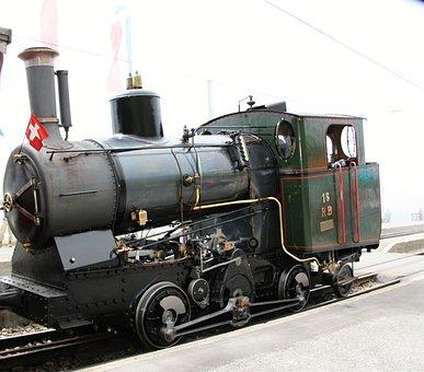 Steam Locomotive, Locomotive, Railway, Steel, Force