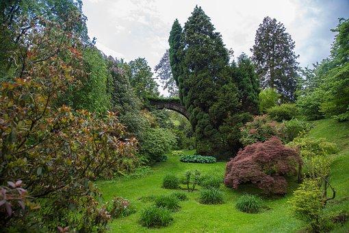 Park, Nature, Bridge, Landscape, Lago Maggiore