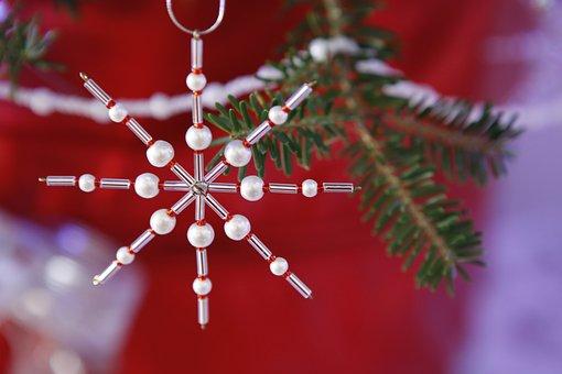 Xmas, Christmas, Ornament, Beaded Ornament, Season