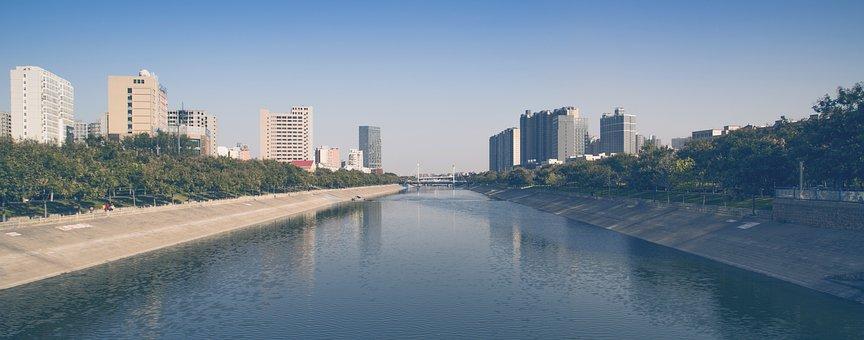 Zhengzhou, Dong Feng Qu, The Three-way, City, River