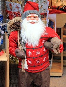 Nicholas, Christmas, Santa Claus, Sweater, Red, Bart