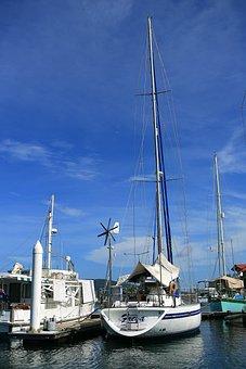 Sea, Boat, Port, Times, Sky, Kota Kinabalu