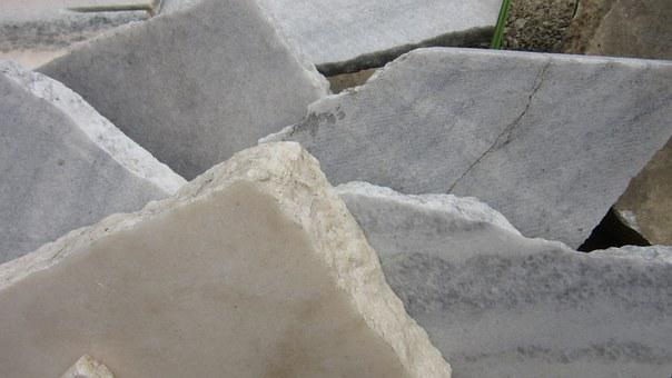 Marble, Slabs, Stone, Broken, Fracture Surface, Rauh
