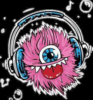Monster, Headphones, Headset, Listen, Smile, Music