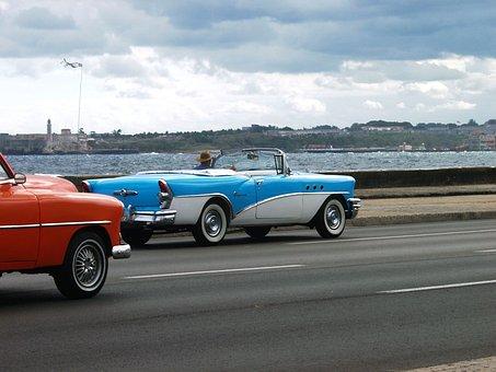 Landscape, Auto, Car, Old, Havana, The Road, Old Timer