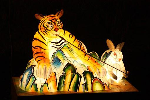 Tiger, Lantern Festival, Cheonggyecheon Stream