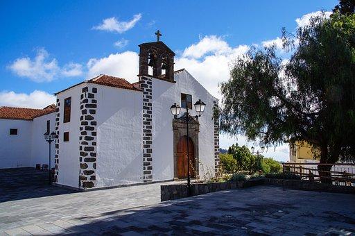 Spain, Canary Islands, Tenerife, Church, Vila Flor