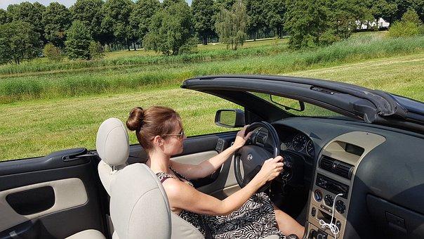 Cabriolet, Cabrio, Summer, Woman, Attractive, Holiday