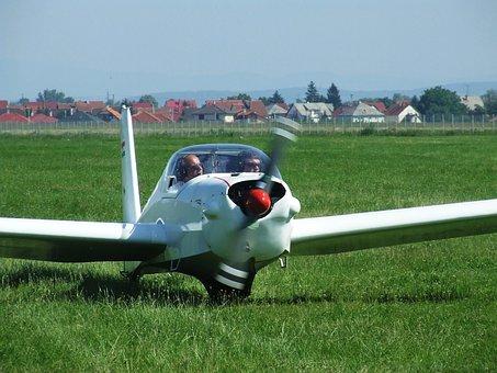 Light Aircraft, Flight, Airport, Miskolc Hungary