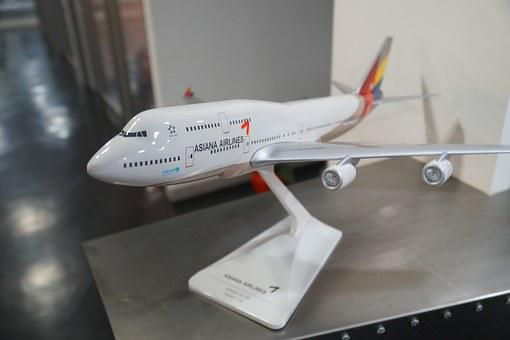 Asiana Airlines, Boeing 747, Model Aircraft