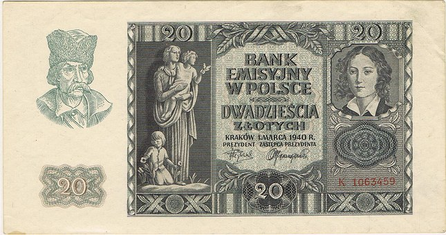 Reichsmark, Zloty, Banknote, Money, Finance, Currency