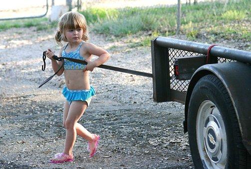 Summer, Girl, Working Girl, Little Girl, Bathing Suits