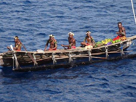 Canoe, Dug Out Canoe, Dugout Canoe, People, Dug-out