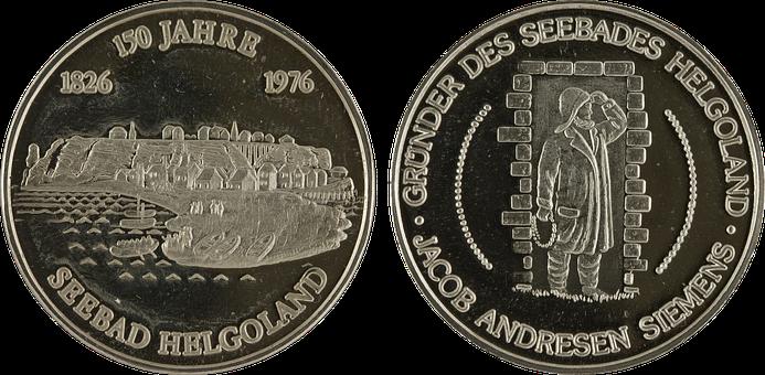German, Seebad, Helgoland, Coins, Money, Finance, Cash