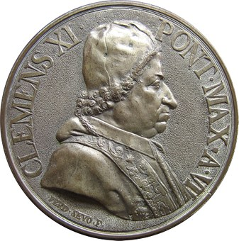 Coin, Embossing, Pope, Clement Xi, Currency, Money