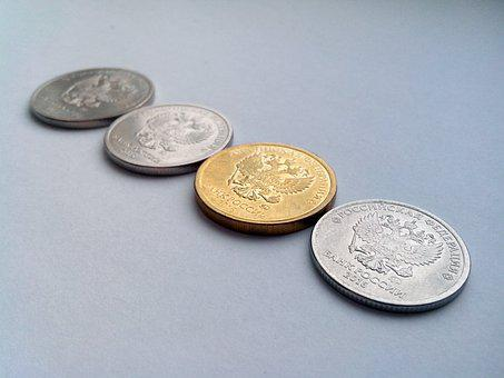 Ruble, Russia, Russian Federation, Money, Coins