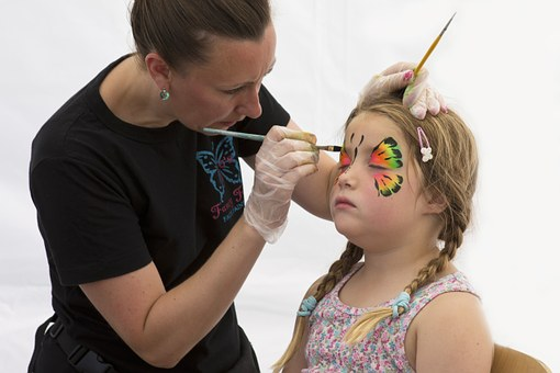 Face Painting, Young Girl, Artist, Colourful