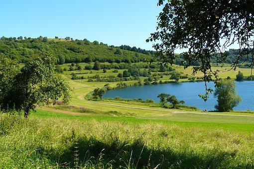 Maar, Maare, Eifel, Water, Lake, Waters, Nature, Trees