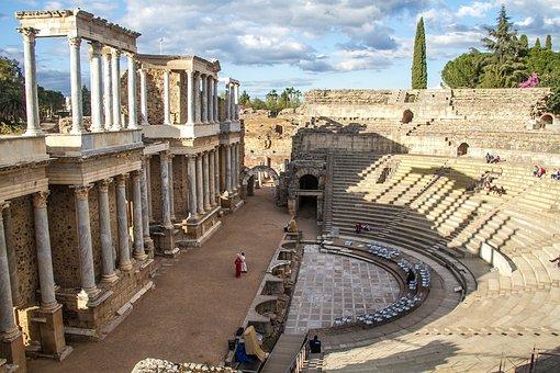 Theatre, Hispania, Merida, Spain, Extremadura, Badajoz