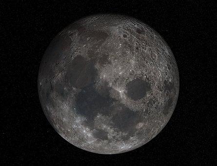 Moon, Full Moon, Crater, Maare, Meteorite Impact