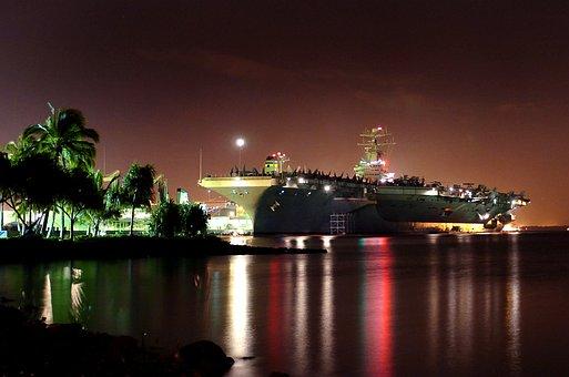 Pearl Harbor, Hawaii, Ship, Aircraft Carrier, Navy
