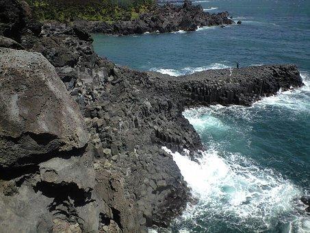 Jeju Island, Jusangjeolli, Waves, Wallpapers, Nature