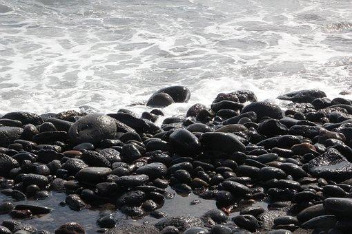 Jeju Island, Beach, Waves, Sea, Jeju Sea