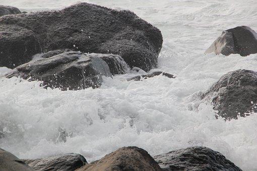 Jeju Island, Waves, Sea, Jeju, Landscape, Jeju Sea