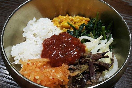 Food, Dining, Bibimbap, Korean, Korean Food, Rice, Bob