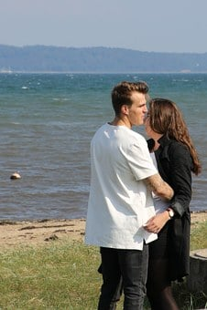 Couple, Love, In Love, Sol, Beach, Girl And Boy, Lake