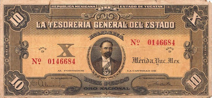 Pesos, Banknote, Mexico, Money, Currency, Note, Finance