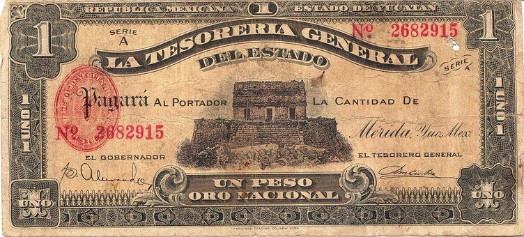 Peso, Banknote, Mexico, Money, Currency, Note, Finance
